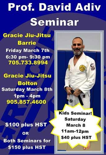 David Adiv Jiu Jitsu Seminar in Barrie, Ontario
